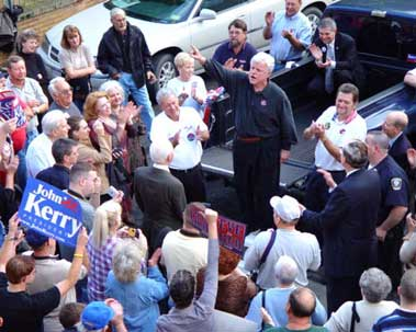 Sen. Edward M. Kennedy stumping in Logan, W.Va.