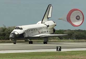 Discovery's last landing