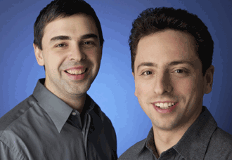 Larry Page and Sergey Brin of Google