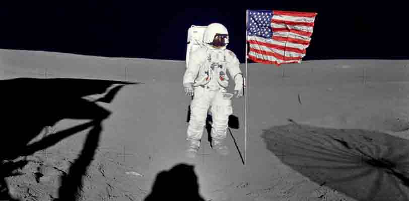 Edgar Mitchell on the moon. NASA/Alan B. Shepard